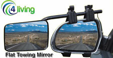 Caravan Towing Mirrors (x 2) large flat mirror with FREE protective carry bag