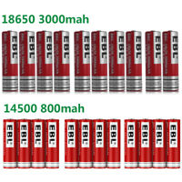 Lot 3.7V 18650 Rechargeable Li-ion Batteries 14500 Battery For Flashlight + Case