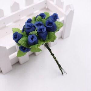 12 Heads Silk Rose Artificial Flowers Bunch Bouquet Wedding Home Party Decor UK