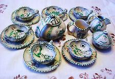 Lovely ILARIO CIAURRO Orvieto Italy Deruta  Majolica Pottery Art Tea set 18 pcs