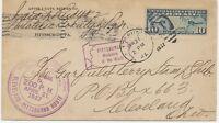 USA 1927 10 C Flugpostausgabe Landkarte EF Pra.-Erstflug PITTSBURG - CLEVELAND