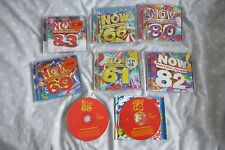 Now That's What I Call Music CD'S - Various CD'S x 8. (not complete)