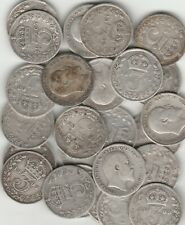 More details for 25 edward vll silver threepences assorted dates 1902 to 1910