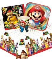 Super Mario Pack de Fiesta {Mantel / Tazas /Platos/Servilletas } (Birthday / Run