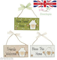Home Sweet Home Friends Bless Wooden Plaque Sign Gift Wall Hanging Home Decor