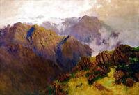 Kosciusko by WC Piguenit A1 High Quality Canvas Print