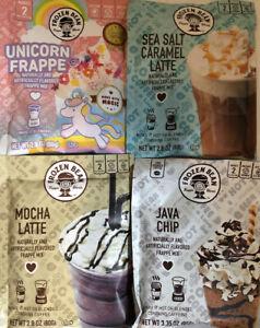 Frozen Bean Frappe Mix Sea Salt Caramel Latte,Java Chip, Unicorn, Mocha Latte!!!
