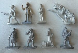 Eight 28mm Call of Cthulhu Miniatures. Rafm metal models.