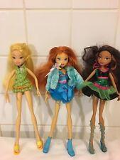 Lot De Trois poupée Winx Club Bloom Stella Leyla Saison 1 Tres Bon État