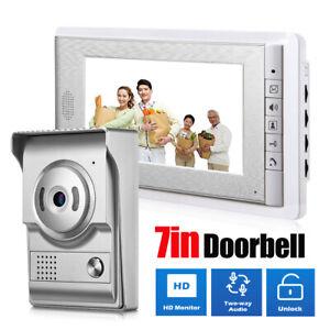 """7"""" HD Smart Video Doorbell Intercom Camera Door Bell Phone Ring IR Night Vision"""
