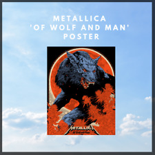More details for metallica 'of wolf and man' limited edition poster