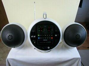 GROOVY RETRO 70s SPACE HELMET WELTRON 2010 MODEL 8 TRACK & RADIO SET W/ SPEAKERS