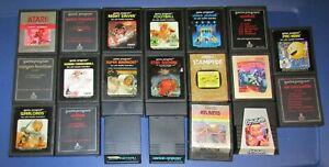 Lot of 20 Atari 2600 Games Fast Shipping!
