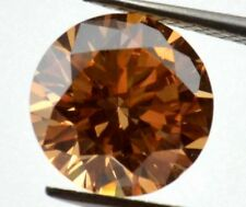Unheated 8mm AAA Brown Sapphire 3.02ct Round Faceted Cut VVS Loose Gemstone