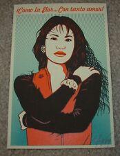ERNESTO YERENA Print COMO LA FLOR Selena Handbill poster shepard fairey