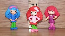 "Set of 3 McDonald's 2010 ""Strawberry Shortcake"" Plastic 3"" Tall Doll Toys *Read*"