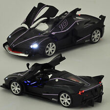 1/32 Black Ferrari FXXK Alloy Diecast Car Model Sound&Light Pull Back IN STOCK