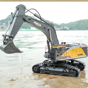 Huina 1:14 1592 Rc Alloy Excavator 22ch Big Rc Upgraded Excavator Latest Version