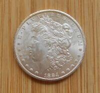USA Morgan Dollar, 1884-CC, Uncirculated, SCARCE