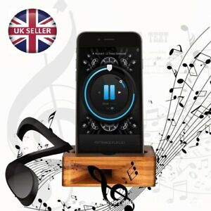 iPhone Sound Amplifier Universal Bamboo Mobile phone Holder Stand Loudspeaker
