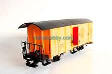 NQD G Scale Cargo Carrige Yellow Closed sides