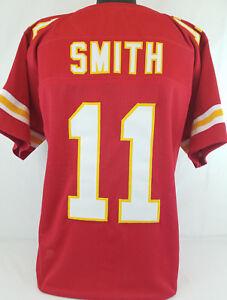 Alex Smith Unsigned Custom Sewn Red Football Jersey Size - L, XL, 2XL