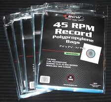 "500 ct. 45 RPM 7"" Record RESEALABLE OUTER SLEEVES 2 Mil Clear Poly High Quality"