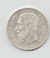 Belgium Silver 1875 5 Francs-Lot E14
