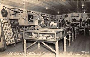 H48/ Gold Hill Oregon RPPC Postcard c40s Interior Museum Displays