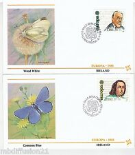 1985**IRLANDE.EIRE//2.FDC..TIMBRE EUROPA**STANFORD-O'CONNOR-PAPILLON**Y/T 566/7