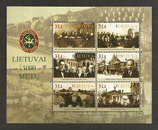 Lietuva Litauen MNH 2008 Mi 974-979 block 36 Sc 869a-d Millennium of Lithuania