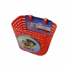 Bicycle Front Basket for Kids Bike Cycle Plastic Red Childrens Kids Basket