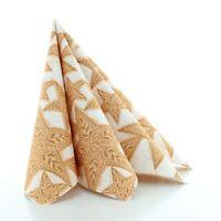 Serviette Gitte in Zimt aus Linclass® Airlaid 40 x 40 cm, 50 Stück Weihnachten