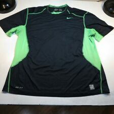 NIKE PRO COMBAT DRI FIT FITTED VENTED ATHLETIC JERSEY TEE T SHIRT Sz Mens XXL