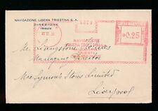 ITALY TRIESTE MARITIME METER FRANKING...NAVIGAZIONE LIBERA TRIESTINA 1935