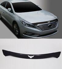 Hyundai Sonata 2015 2016 Black Emblem Hood Guard Protector Cover 1p
