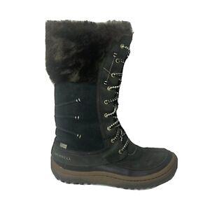 Merrell Decora Prelude Womens Size 10 200 Gram Insulation Faux Fur Winter Boots