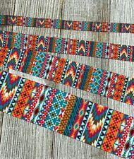 Printed Grosgrain Ribbon 4 Widths in 1/3/5 Yard Aztec, Tribal, Southwest Stripe