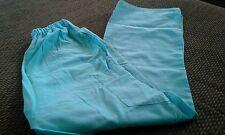 Womens JASCO SCRUBS Pants Retro Aqua Blue XS Pockets Extra Small 30 inseam