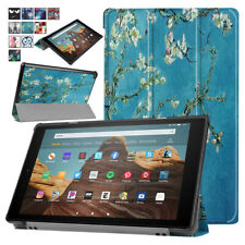 For Amazon Kindle Fire 7 HD 10 9th Gen 2019 Painting PU Leather Case Smart Cover