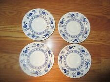 "Four J&G Meaking Made in England 5.5"" saucers Blue Nordic Classics*"