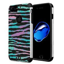 Dual Layer Armor Case for iPhone 7 Plus / 6s Plus / 6 Plus - Colorful Zebra