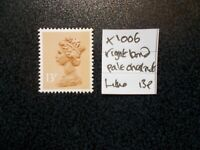 GB 1971+~ Machin~13p~SG X1006~Right Band~Pale Chestnut~Unmounted Mint~UK