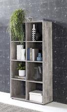 Wilmes: Raumteiler mit 8 Fächer - Bücherregal Standregal Regal - Betonoptik