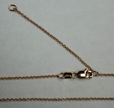 """14kt 14K Rose Solid Gold 1.1mm Adjustable Cable Chain 16"""" 18"""" w/ Lobster Catch"""