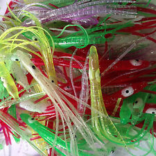 100 70mm Soft Plastic Lures Skirts Wholesale Teasers Skirts Jigging Trolling A