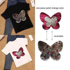 Mariposa historieta hierro Parche Ropa Coser apliques bordado Craft