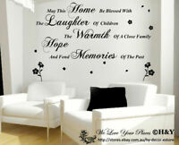 """""""May This Home"""" Removable Wall Art Quotes Vinyl Decal Stickers Home Decor Mural"""