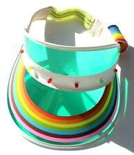 Vtg 1980's Rainbow GAY Light Up Sun Visor Classic Plastic Festival Hat NOS