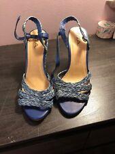 MIA Women Wedges Peep Toe Shoes Size 12 Blue